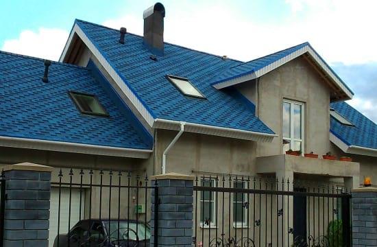 Синяя крыша и элементы